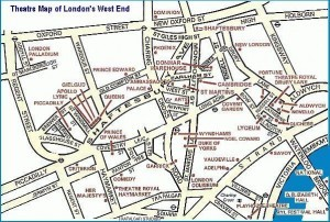 London Theatre Map - Theatres in the West End