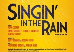 singing in the rain logo for theatre breaks for the london run