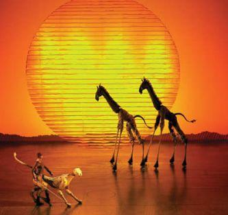 The Lion King at the Lyceum Theatre, London for half term 2012