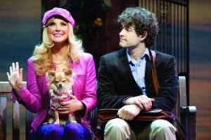 Image of Carley Stenson (with dog) and Lee Mead in Legally Blonde