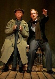 Ken Drury and Adam Best now in The Woman in Black at the Fortune Theatre
