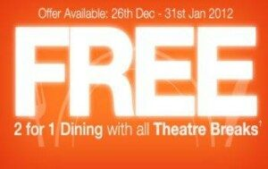 Free Dining Offer From Theatre Breaks