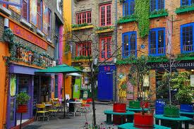 Buildings in Neal's Yard, by Covent Garden