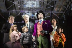 The cast of Charlie and the Chocolate factory at the Theatre Royal Drury Lane