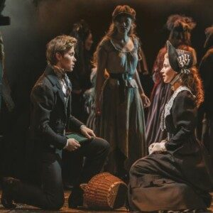 Stage view of Marius and Cosette in the Les Miserables Theatre Breaks