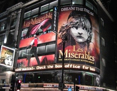 Les Miserables theatre breaks in London