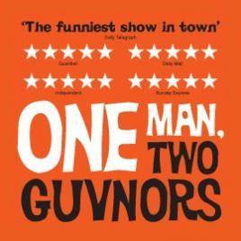 one man two guvnors theatre breaks in London starring Rufus Hound