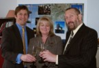 stuart and Simon Harding with St Albans MP Ann Main