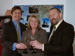 stuart and Simon Harding with St Albans MP Ann Main