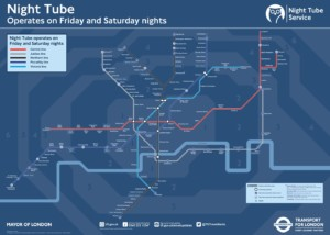 London's Night Tube map - London Underground