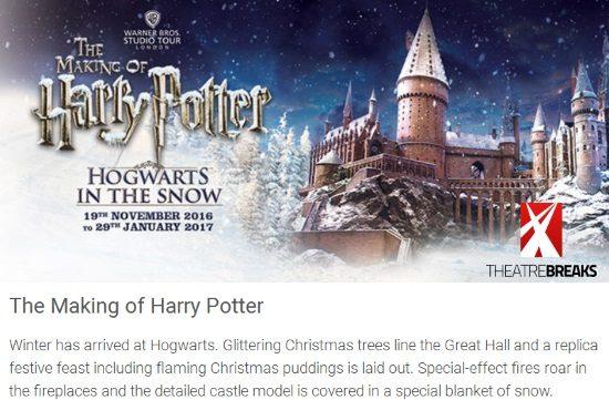 Harry Potter Studio Tour at Christmas