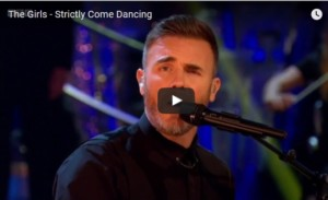 Gary Barlow on Strictly Come Dancing singing Dare from The Girls
