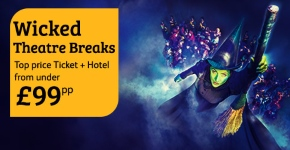 Wicked special offers - ticket and hotel