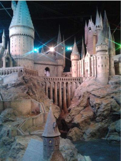 The huge model of Hogwarts at Warner Brothers. The Creating of Dobby