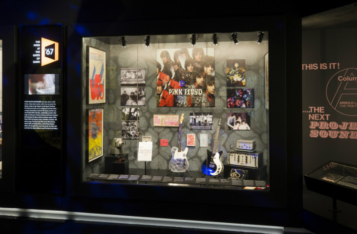 Artwork and instruments Copyright Pink Floyd Exhibition Their Mortal Remains Stufish